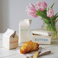 milk, butter and sugar ceramics by sorbet living | notonthehighstreet.com