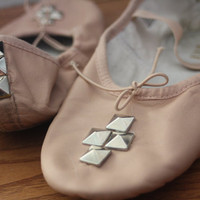 $35.00 Studded Ballet Flats by honeymarielove on Etsy