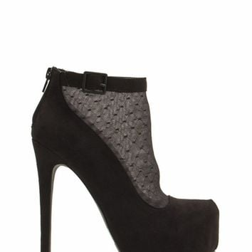 Mesh 2 Death Crosshatch Booties
