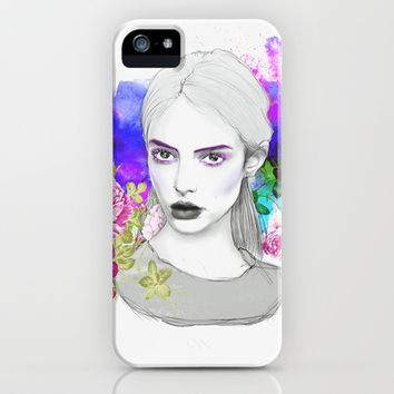 Les Fleurs du mal / The Flowers of Evil iPhone & iPod Case by Sara Eshak