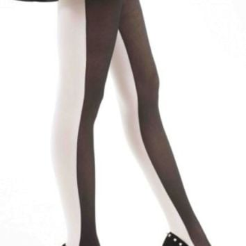 Monochrome Opaque Tights - Lingerie/Hosiery - Column 2 - Clothing