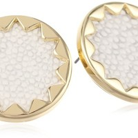 "House of Harlow 1960 ""White Sand"" Sunburst Stud Earrings"