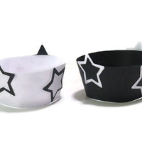 Graduation Party Decor - Star Cupcake Wrappers - Handmade Party Supplies - Pack of 12