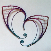 Niobium elf ears by Belethil on Etsy