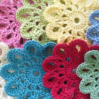 Handmade Cotton Coasters, Small Doilies, Embellishments - Set Of 6 | Luulla