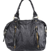 Zipper Pocket Leatherette Handbag - Accessories - Handbags & Wallets - Shoulder Bags - 1082540789 - Forever21