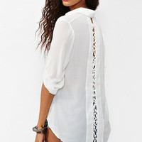 Laced Tail Blouse - White in  Clothes Back In Stock at Nasty Gal