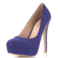 Sassy Bright Blue Court Shoe - Miss Selfridge