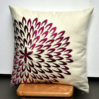 Purple Petal Flower Throw Pillow Cover 18 x 18 by KainKain