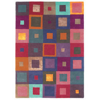 Heal's | Square Red And Multi Rug > Rugs > Rugs > Accessories