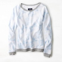 AEO Women's Cloud Wash Sweatshirt (Light Blue)
