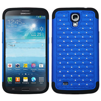 MYBAT Lattice Dazzling Case for Galaxy Mega 6.3 - Blue/Black