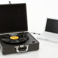 Rechargeable USB Briefcase Turntable