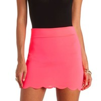 Scalloped Bodycon Mini Skirt