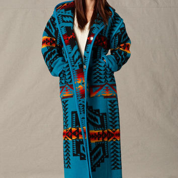 Reversible Long Coat, Womens Native American Wool Coats