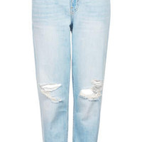 MOTO Frayed Bleach Wash Hayden Jeans - Bleach Stone