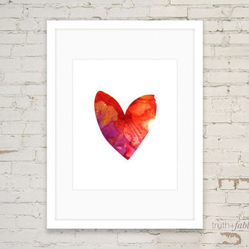 Watercolor Heart DIY Art Print
