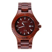 Zlyc Men's Wooden Watch Natural Sandalwood Wrist Watch with Calendar Function