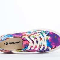 Superga 2750 COTU Floral in White Floral