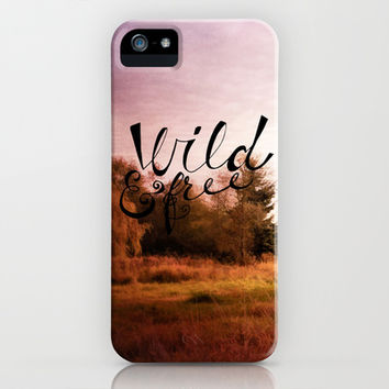 wild and free: meadow iPhone & iPod Case by Sylvia Cook Photography