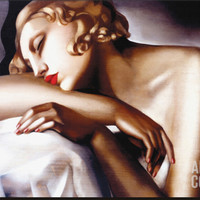 La Dormeuse Stretched Canvas Print by Tamara de Lempicka at Art.com