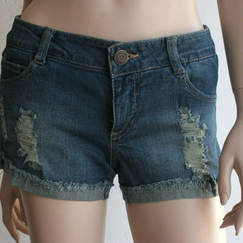 Denim Distressed, shredded Jean Shorts
