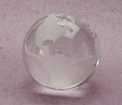 Glass Globe Paperweight at the Bibelot Shops