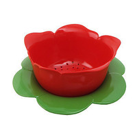 Red Rose Colander with Green Dew Bowl at the Bibelot Shops