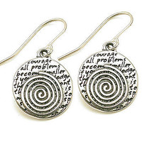 Silver Swirl Earrings at the Bibelot Shops