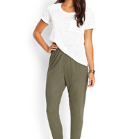 LOVE 21 Stretch Knit Slouchy Joggers