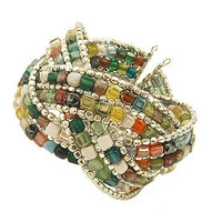 Braided Multi Mosaic Cuff Bracelet at the Bibelot Shops