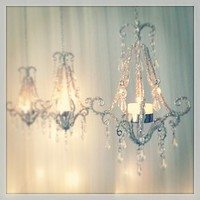 Crystal Chandelier Tea Light Holder Lantern
