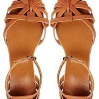 New Look Julio Leather 2 Part Caged Flat Sandals