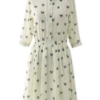 Doggie Print Shirt Dress