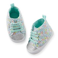 Carter's Floral High Top Crib Shoe