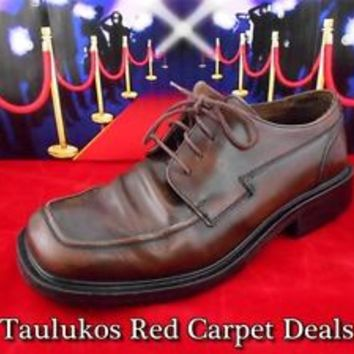 Mens shoes Vintage European KENNETH COLE REACTION Oxford Dress BROWN sz 9.5 M