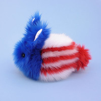 Red White and Blue Bunny Rabbit Stuffed Animal Toy Plush- 6x10 Inches Large Size