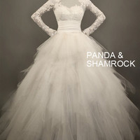 Olivia/wedding gown/women clothing/bridal by pandaandshamrock