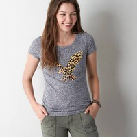 's Real Soft Signature Scoop Neck Graphic T-shirt (Ebony Grey)