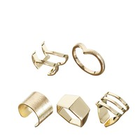 ASOS Mix Angular Ring Multipack