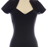 Va-Voom Vixen Top in Black
