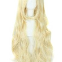 """MapofBeauty 32"""" 80cm Long Hair Spiral Curly Cosplay Costume Wig (Light Blonde)"""