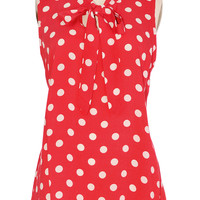 Dotted Dolly Sleeveless Blouse