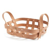byAMT Small Leather Strap Basket