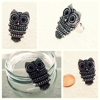 Antique Silver Owl Ring