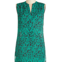 ModCloth Sleeveless Ready Ornate, Here I Come Tunic