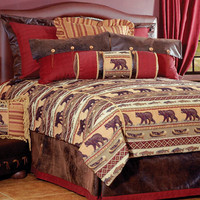Kodiak Creek Deluxe Bedding Set : Log Cabin Styles