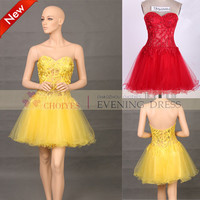 2014 strapless embroidered with hot-fix stone Yellow short strapless tulle Homecoming dresses, View Homecoming dresses, CHOIYES Product Details from Chaozhou Choiyes Evening Dress Co., Ltd. on Alibaba.com