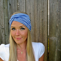 Vintage Turban Style Stretch Jersey Knit Headband in by HillNTrees