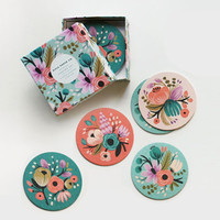 Floral Coasters - Set of 8